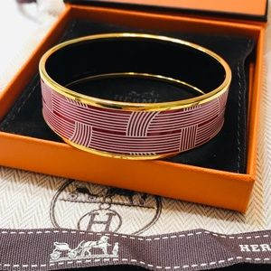 🌟 HERMÈS Enamel Bangle Bracelet